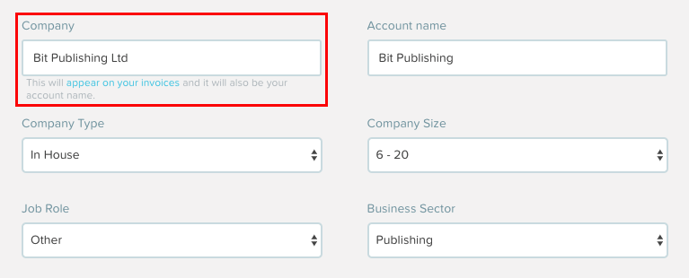 Accounts Billing VAT Invoices - Invoice details